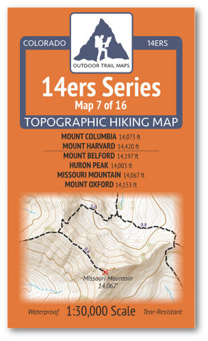 14ers Map 7 of 16 Cover