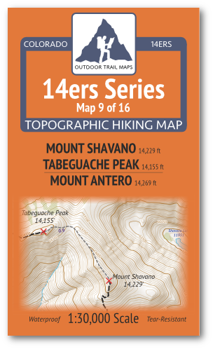14ers Map 9 of 16 Cover