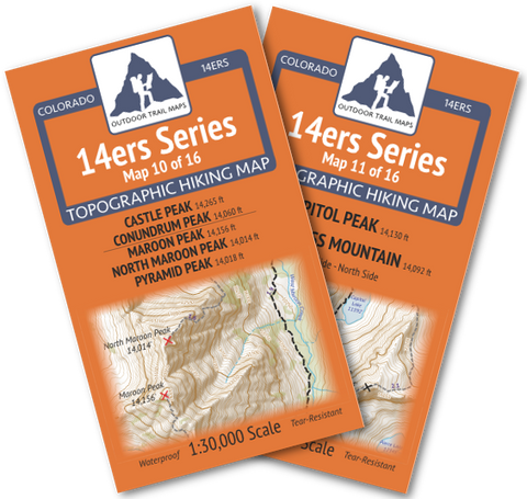 14ers Series Elk Mountains Map Pack