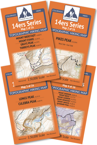 14ers Series Front-Tenmile-Mosquito Range Map Pack