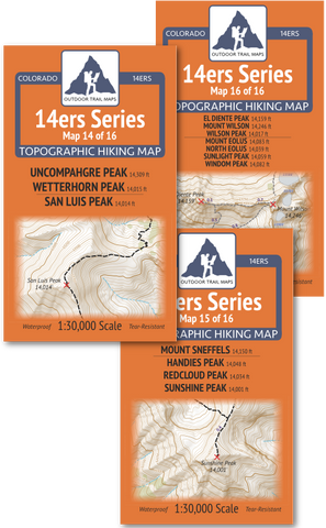 14ers Series San Juan Mountains Map Pack