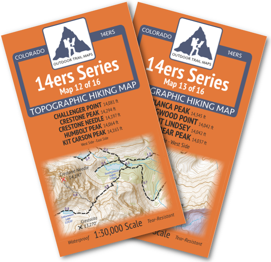 14ers Series Sangre de Cristo Range Map Pack