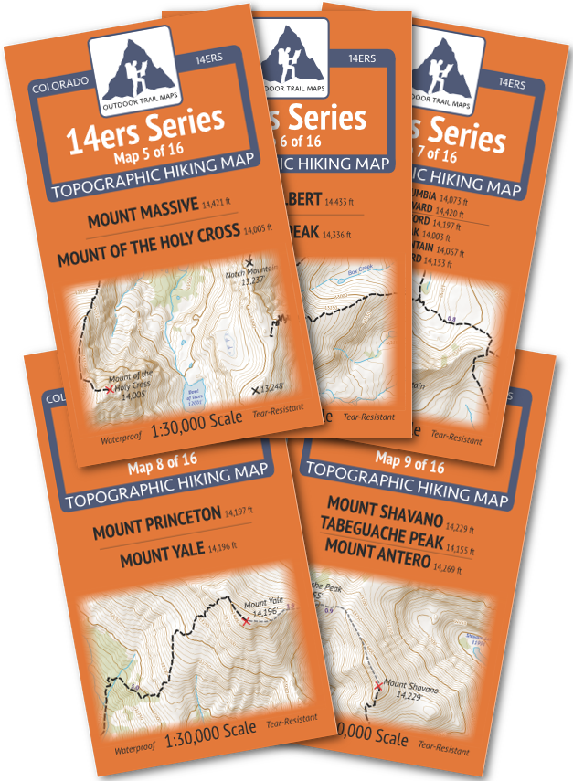 14ers Series Sawatch Range Map Pack