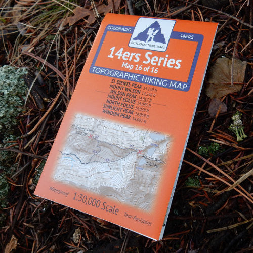 14ers Map 16 of 16: El Diente, Wilson, Wilson | Eolus, North Eolus, Sunlight, Windom