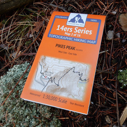 14ers Map 2 of 16: Pikes Peak (East and West)