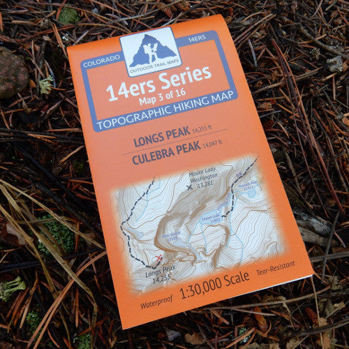 14ers Map 3 of 16: Longs Peak | Culebra Peak