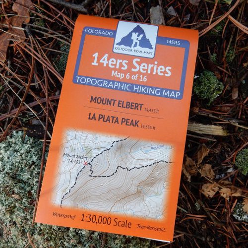 14ers Map 6 of 16: Elbert | La Plata