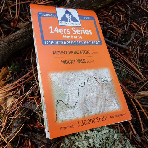 14ers Map 8 of 16: Princeton | Yale