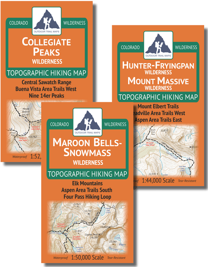 Aspen Hiking Map Pack - Wilderness Area Map Bundle