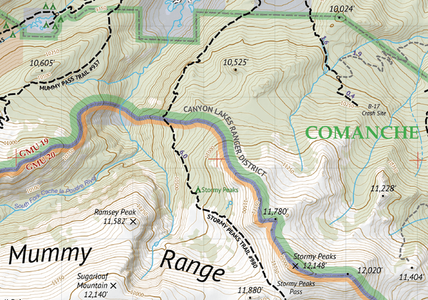 Comanche Peak Wilderness Map