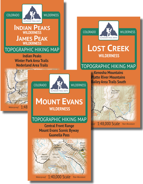 Denver / Boulder Area Backpacking Map Set