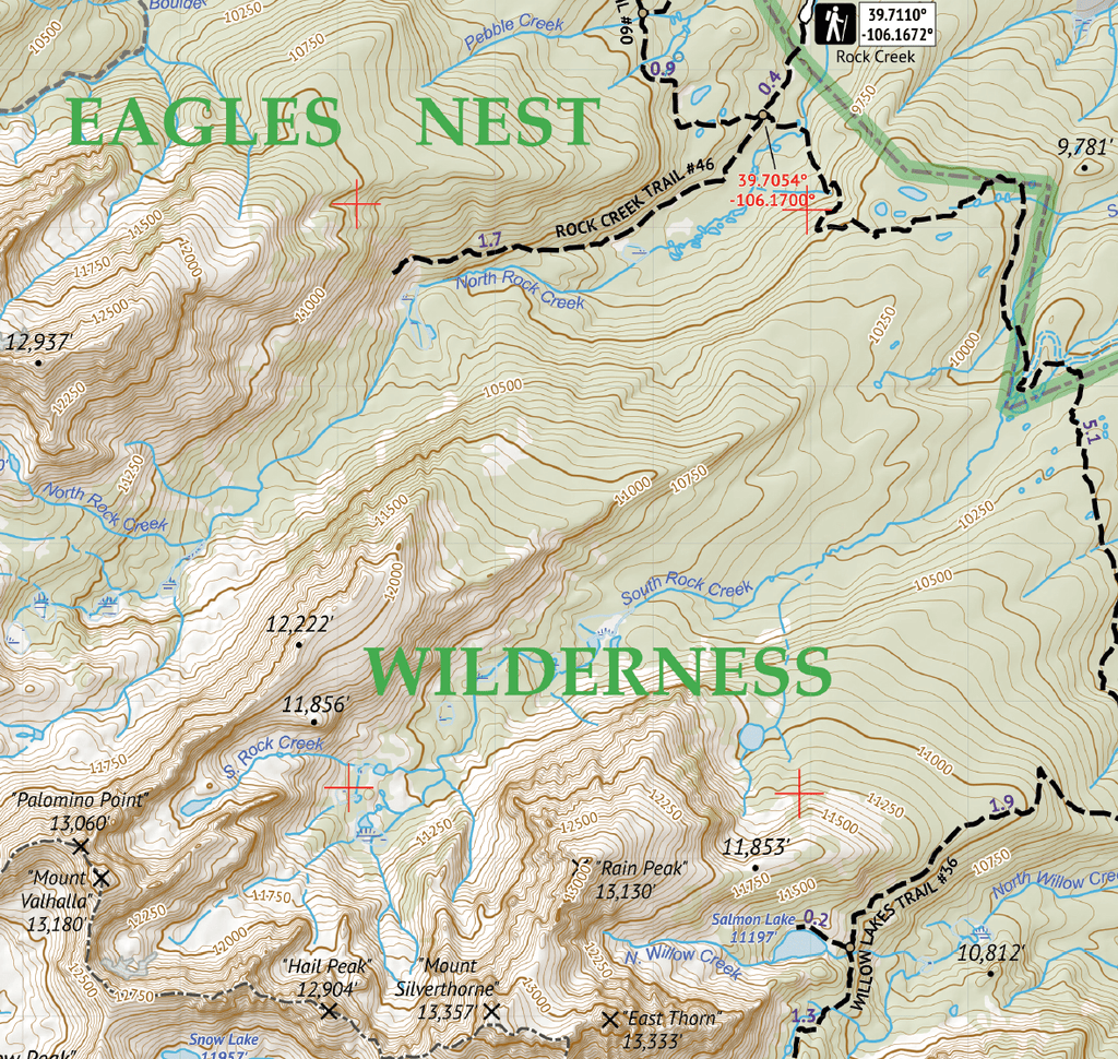 Vail Hiking Map Pack Holy Cross Eagles Nest Topographic Maps - Where to get topo maps for hiking