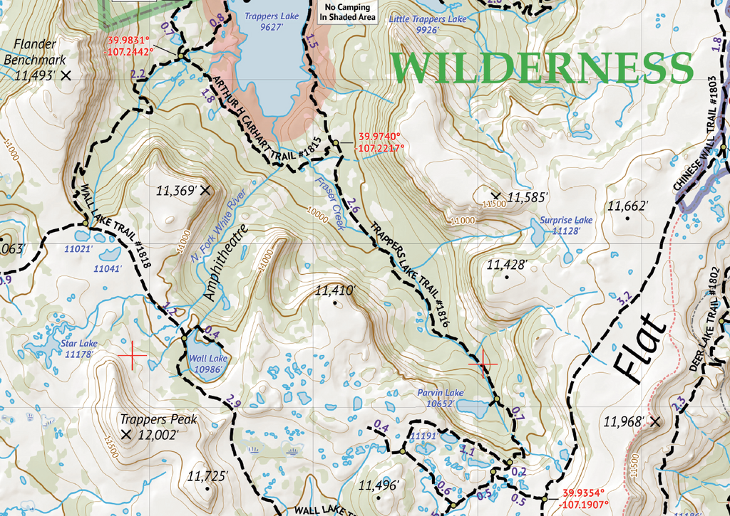 Rocky Mountain National Park - 2018 Topographic Hiking Map Outdoor ...
