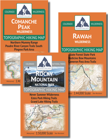 Fort Collins Area Backpacking Map Set
