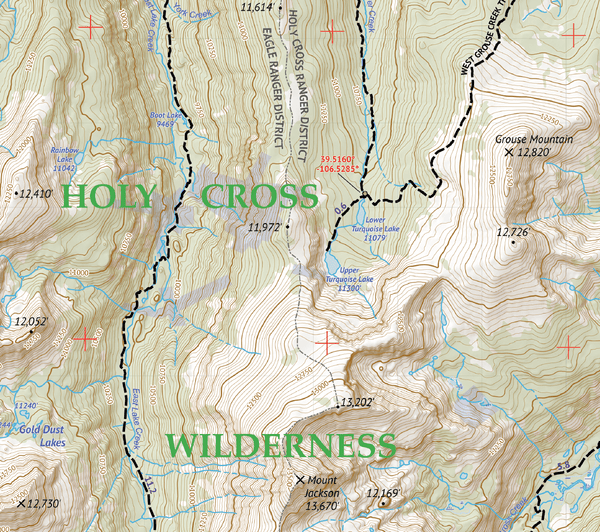 Vail Hiking Map Pack 2018: Holy Cross and Eagles Nest Map Pack