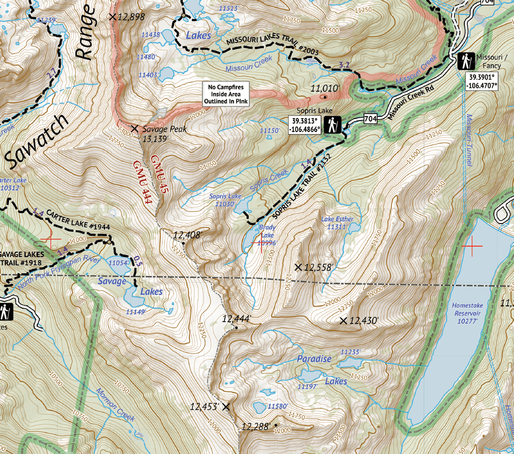 Holy Cross Wilderness - Topographic Hiking Map - Colorado – 14ers Maps