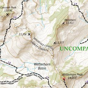 14ers Map 14 of 16 Crop