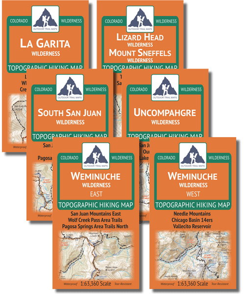 San Juan Mountains Wilderness Map Pack