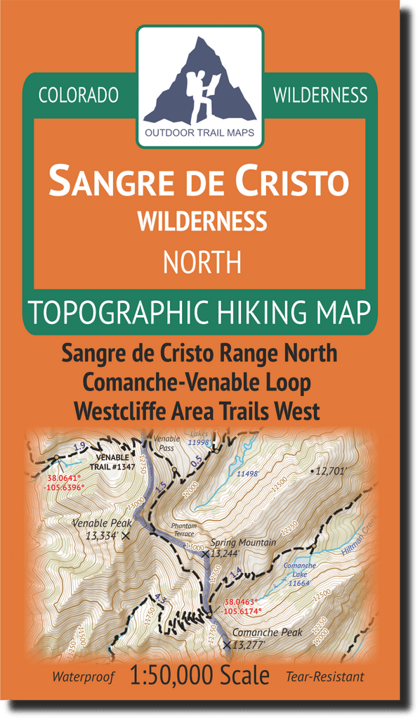 Sangre de Cristo North Map Cover