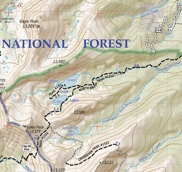 Sangre de Cristo Wilderness Map Pack: North Map and South Map