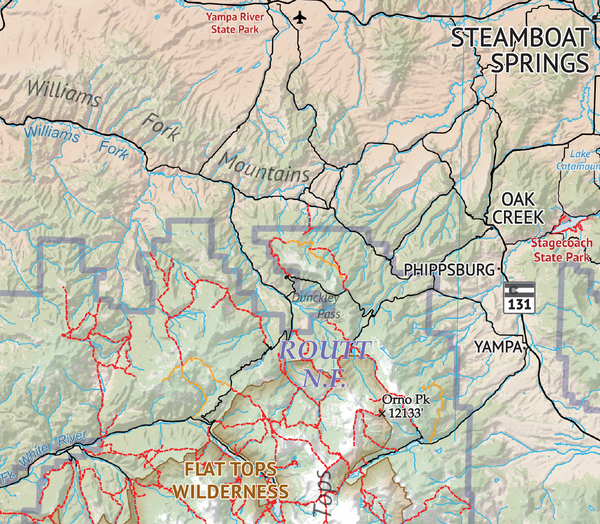 The Hiker's Map of Colorado - Routt National Forest
