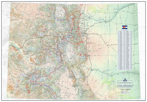 The Hiker's Map of Colorado