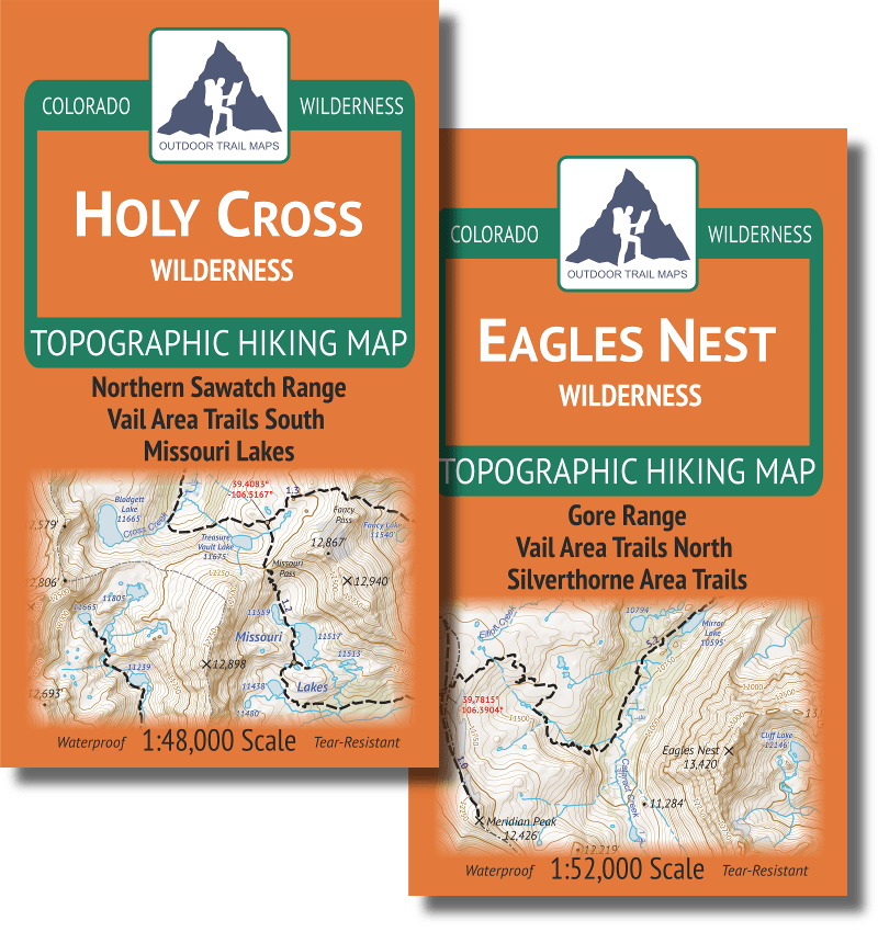 Vail Hiking Map Pack 2018: Holy Cross + Eagles Nest Topographic Maps ...
