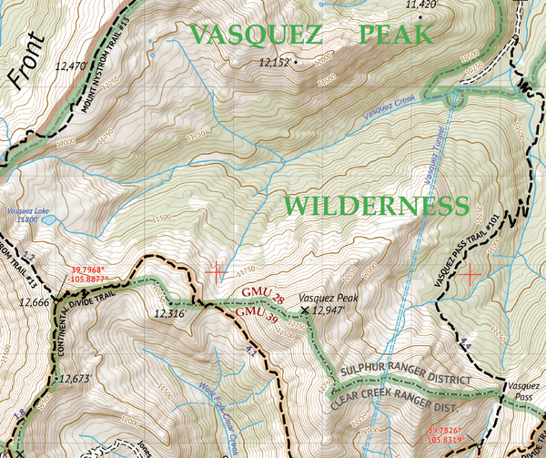 Vasquez / Byers / Ptarmigan Peak Wilderness