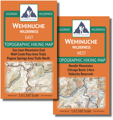 Weminuche Wilderness Map Pack: East Map and West Map