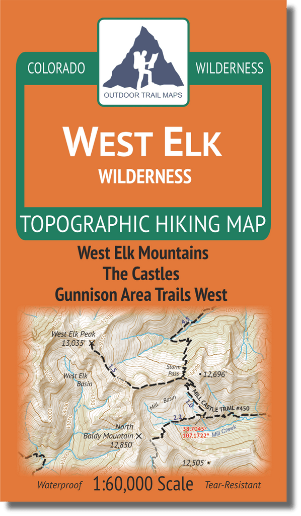 West Elk Wilderness Map Cover