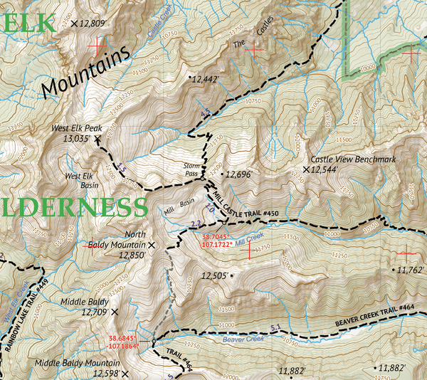 West Elk Wilderness Map Crop 1