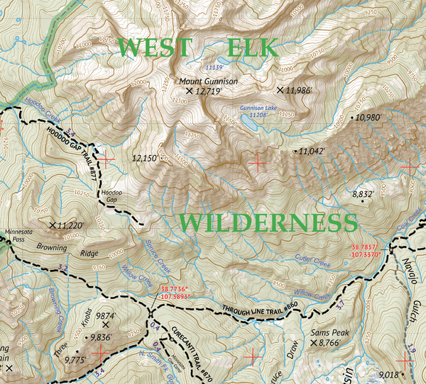 West Elk Wilderness Map Crop 2