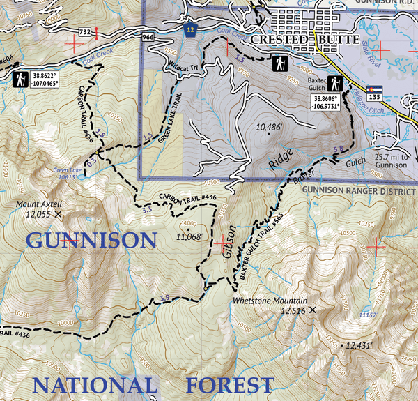 West Elk Wilderness Map Crop 3