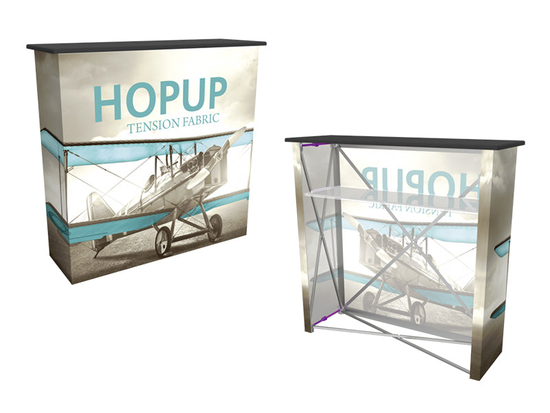 Hop-Up Collapsible Graphic Counter with Shelf