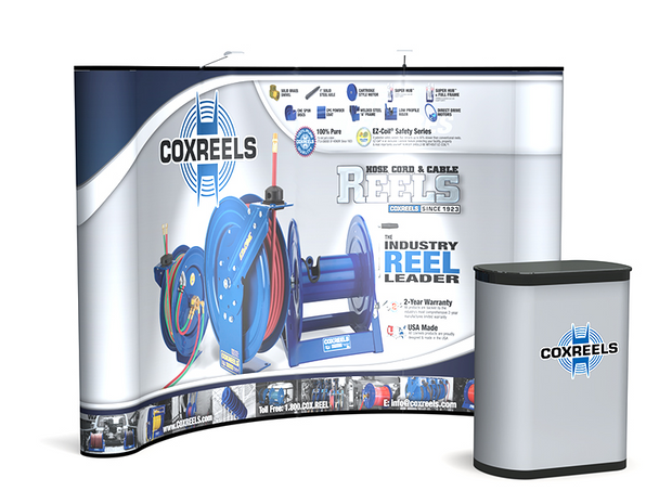 Commuter 10' Pop Up KIT - Curved Graphic Panel - Backwall / Inline Display