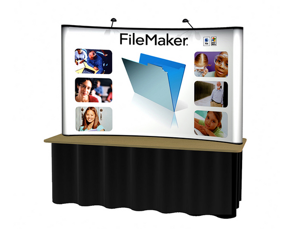 Commuter Tabletop 8' Pop Up KIT - Curved Graphic Panel