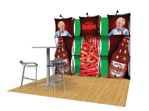 ConneX 10' Tension Fabric Pop Up Display - KIT A