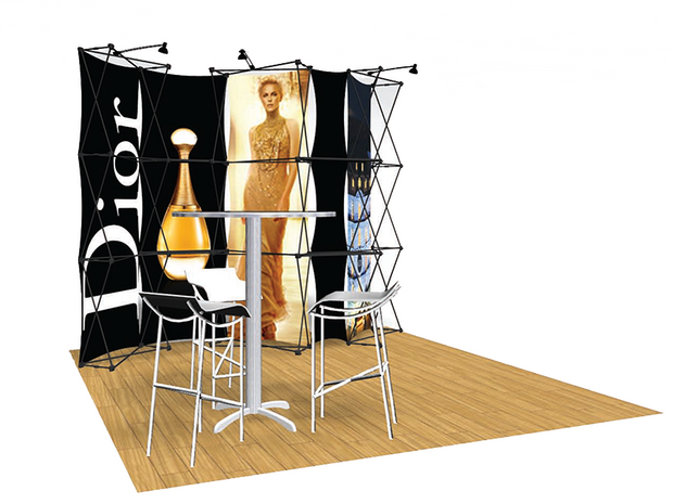 ConneX 10' Tension Fabric Pop Up Display - KIT E