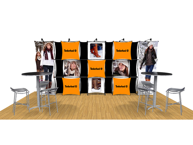 ConneX 20' Tension Fabric Pop Up Display - KIT A - Backwall / Inline Display