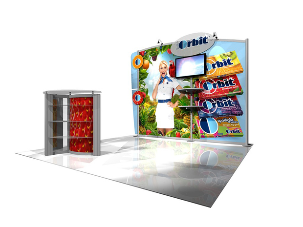 eSmart Hybrid 10' Inline Exhibit - KIT ECO-1039 - Backwall / Inline Display