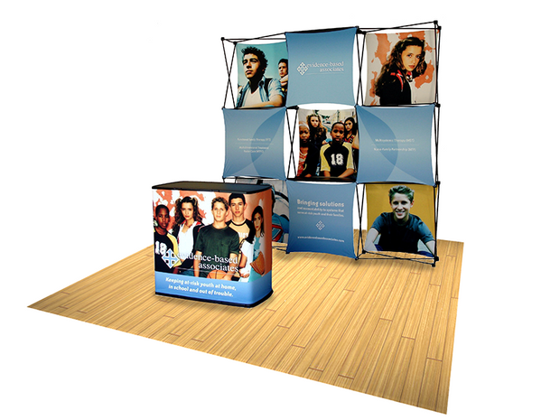 Express 8' Tension Fabric Pop Up Display - KIT B - Backwall / Inline Display