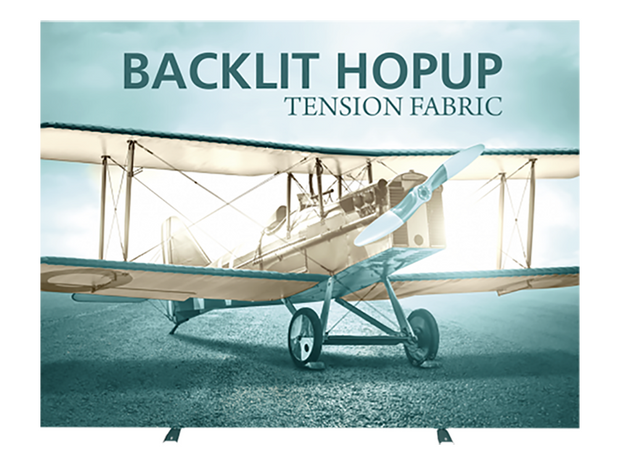 Hop-Up 10' FULL Graphic BACKLIT Display KIT - Straight 4x3 - Backwall / Inline Display
