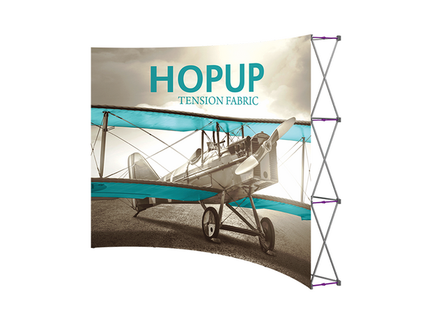 Hop-Up 10' FRONT Graphic Display - Curved 4x3 - Backwall / Inline Display