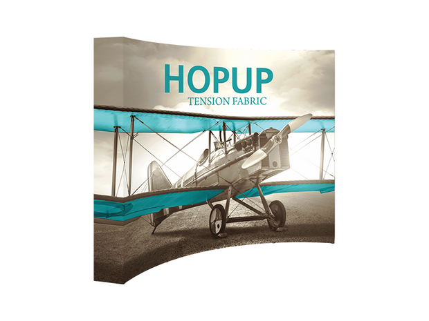 Hop-Up 10' FULL Graphic Display - Curved 4x3 - Backwall / Inline Display