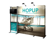 Hop-Up 10' FULL Graphic MONITOR Display KIT - Straight 4x3 - Backwall / Inline Display
