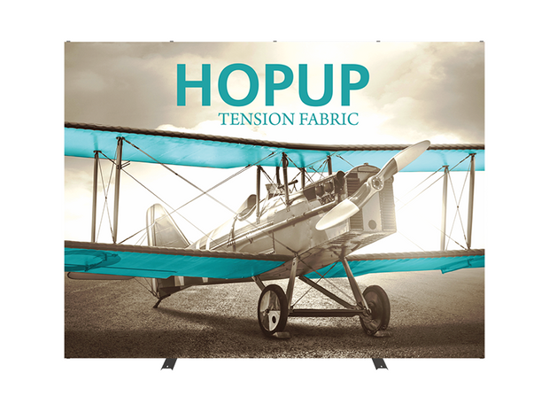 Hop-Up 10' FRONT Graphic Display - Straight 4x3 - Backwall / Inline Display