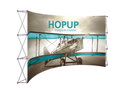 Hop-Up 15' FRONT Graphic Display - Curved 6x3 - Backwall / Inline Display