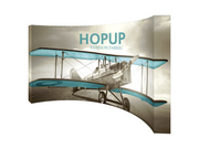 Hop-Up 15' FULL Graphic Display - Curved 6x3 - Backwall / Inline Display