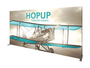 Hop-Up 15' FULL Graphic Display - Straight 6x3 - Backwall / Inline Display