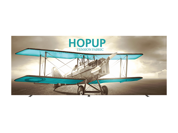 Hop-Up 20' FRONT Graphic Display - Straight 8x3 - Backwall / Inline Display